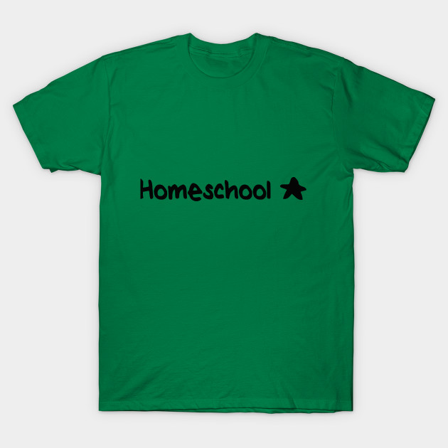 Homeschool Star (black text) t-shirts, mugs, stickers & more