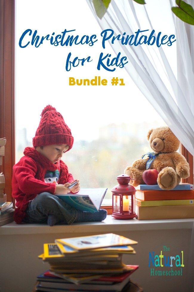 Christmas Printables for Kids – Bundle #1