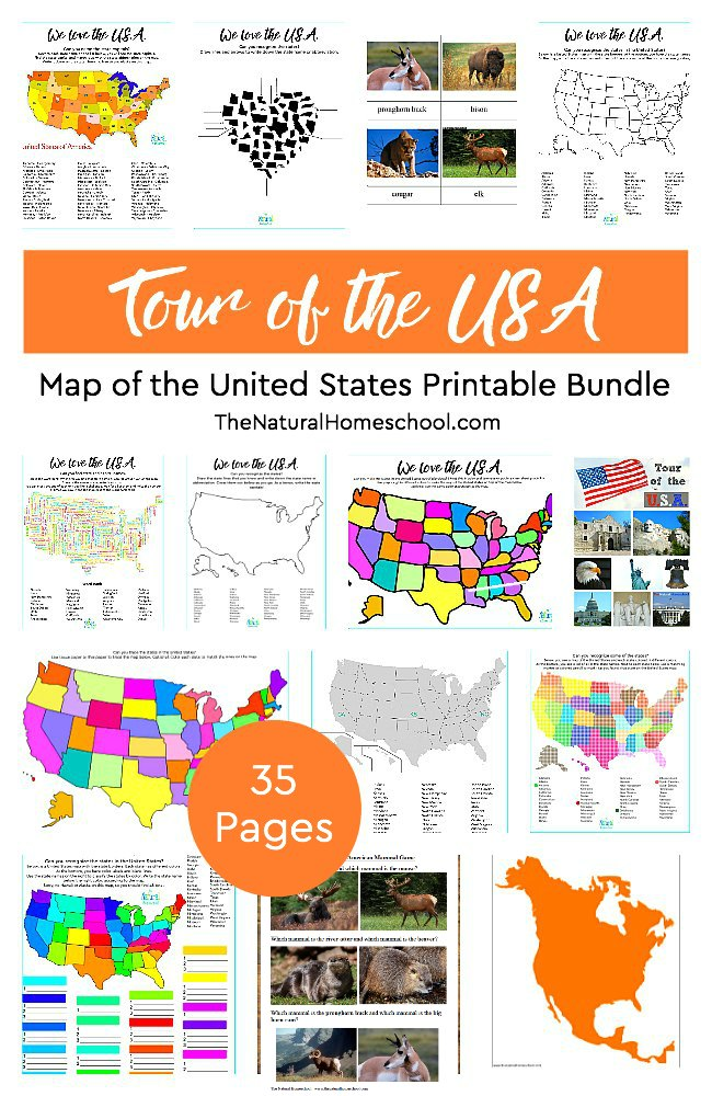 United States Map Activities.Tour Of The Usa Awesome Map Of The United States Printable Bundle