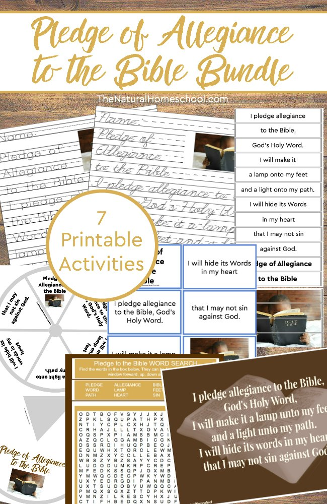 photo regarding Pledge to the Bible Printable known as Pledge of Allegiance towards the Bible Printable Offer ~ 7 Things to do