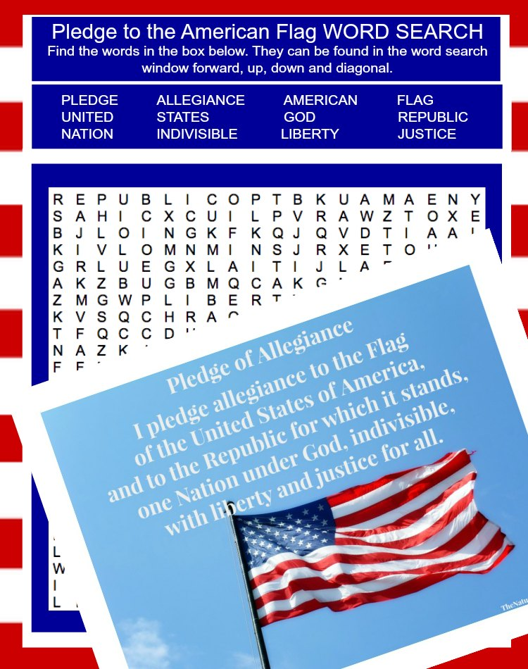 image about Pledge of Allegiance Words Printable named The Suitable Pledge of Allegiance Mega Deal ~ in direction of the American Flag, Christian Flag and the Bible (22 things to do)