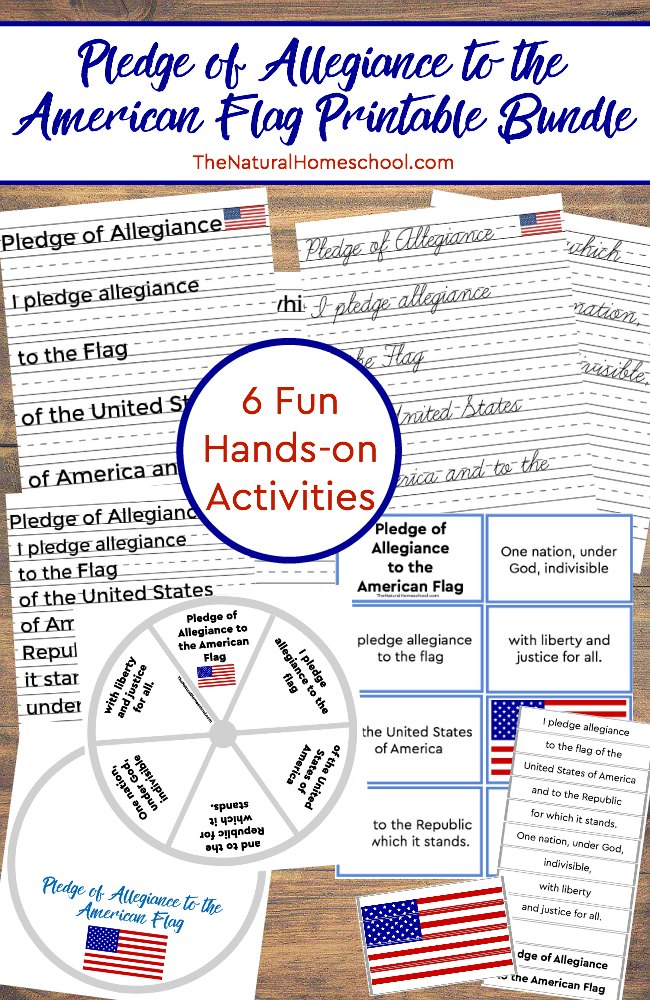 photo regarding Pledge of Allegiance Printable called \