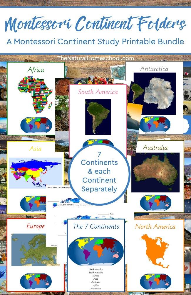 picture regarding Printable Folders identify Montessori Cultural Continent Folders Printable Offer