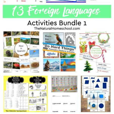 What is the best or easiest foreign language for kids to learn? Well, they say that learning Spanish for kids is usually the first recommended language, so I'm including some Spanish printables here. But I don't stop there! Check this out!