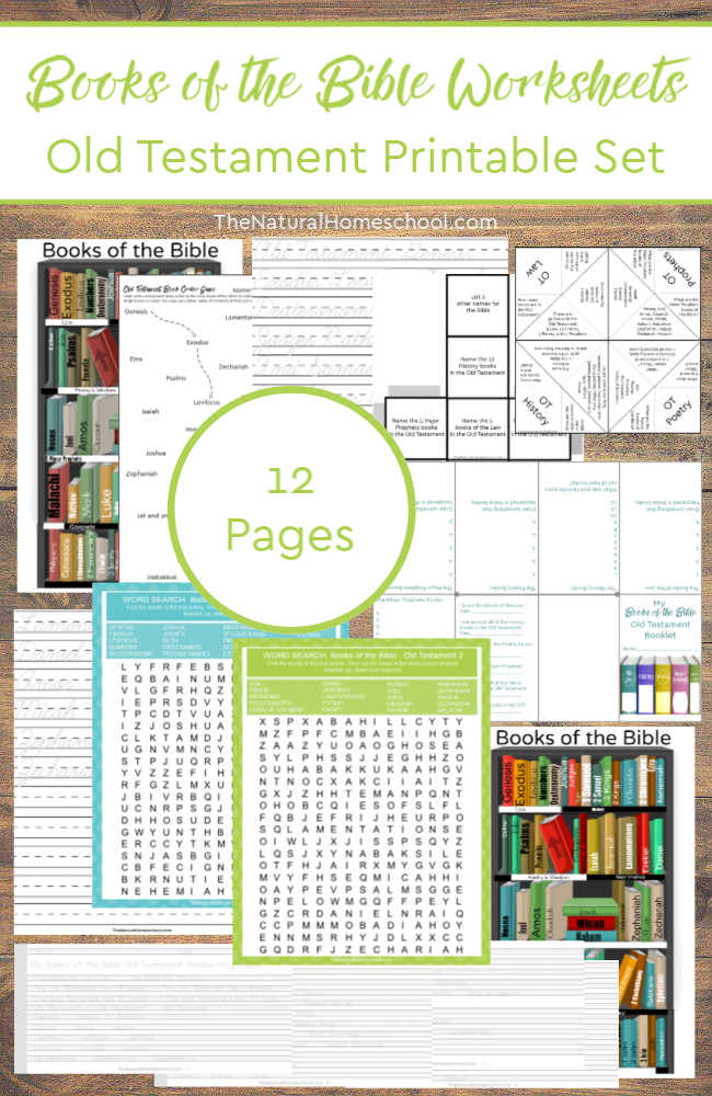 8 Awesome Printable Old Testament Books of the Bible Worksheets