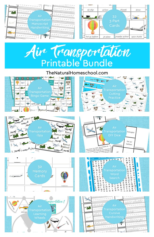 There are many modes of transportation to learn about! In this bundle, we have a long list! This is a great unit of 100+ pages long! It will give you plenty to do, all while having a lot of fun! Land, Water & Air Transportation for Kids Printable MEGA Bundle + BONUSES