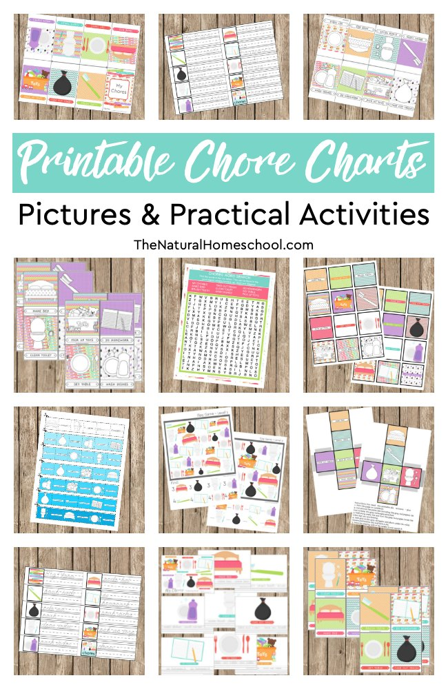 photo relating to Printable Chore Pictures identify 12 Printable Chore Charts Pics and Handy Actions