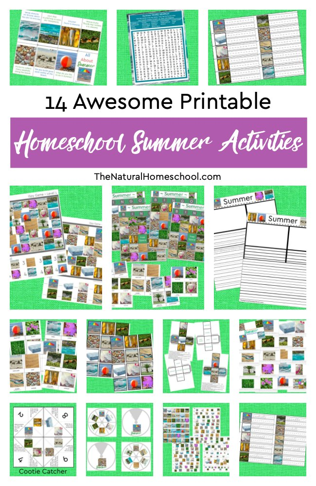 14 Printable Homeschool Summer Activities